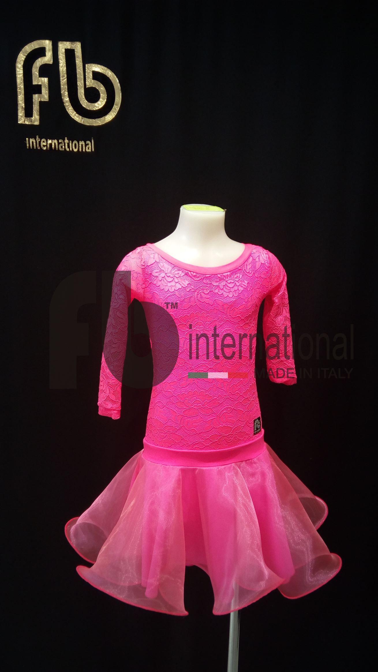 Abito rosa bimba