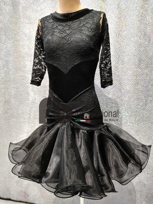 Velvet and organza dress