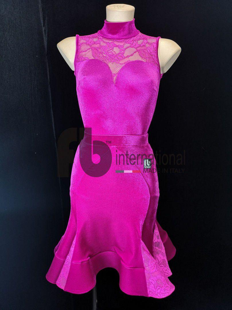 Girl fuchsia dress