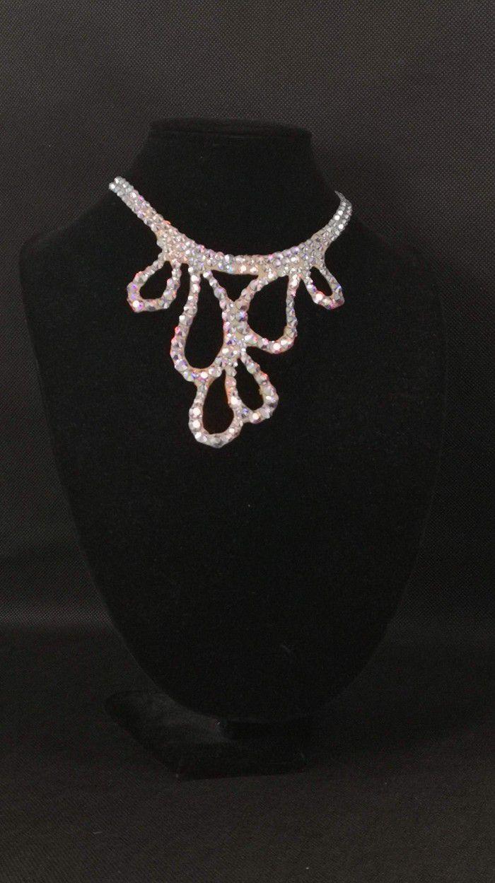 Rhinestones necklace 2