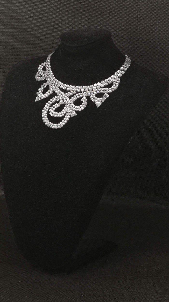 Rhinestones necklace 7