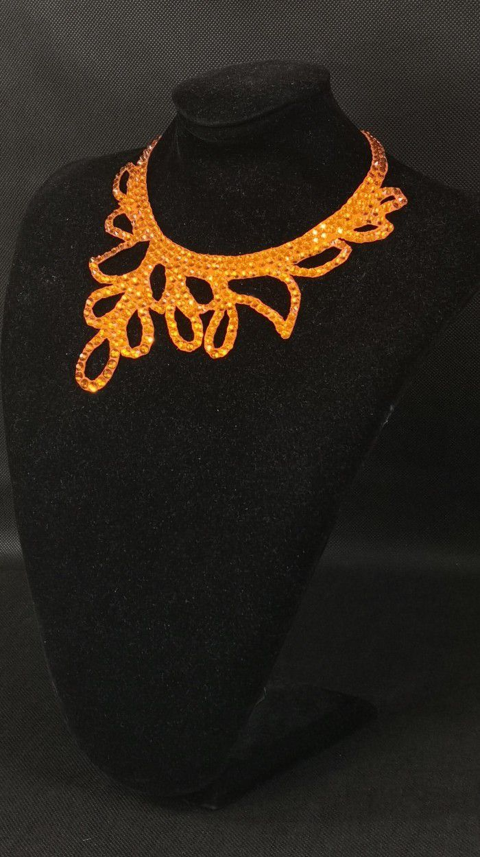 Rhinestones necklace 8
