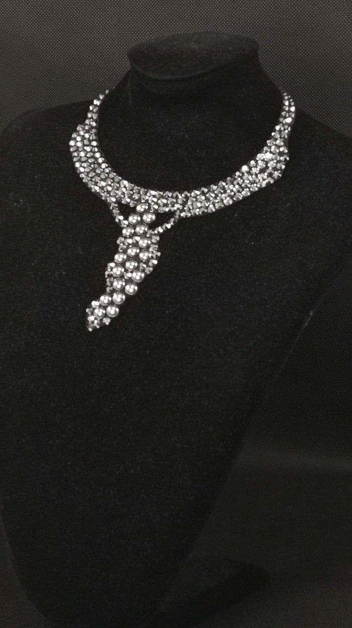 Rhinestones necklace 12